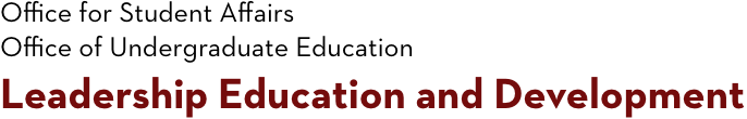 Leadership Education and Development Logo